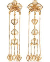 Mallarino - Orquídea Gold Vermeil Earrings - Lyst
