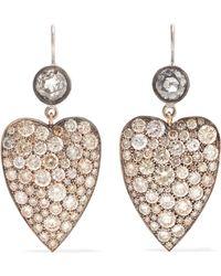 Sylva & Cie - 18-karat White Gold And 14-karat Rose Gold Diamond Earrings - Lyst