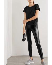 Heroine Sport Performance Faux Leather Leggings - Black