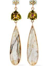 Melissa Joy Manning   14-karat Gold Multi-stone Earrings   Lyst