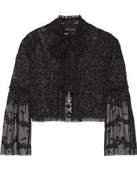 Needle & Thread - Primrose Embroidered Tulle Jacket - Lyst