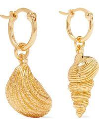 Aurelie Bidermann Panama Gold-plated Earrings - Metallic