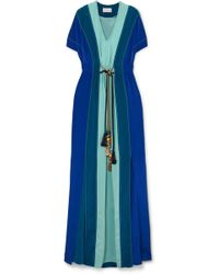 Peter Pilotto - Gathered Panelled Silk Gown - Lyst