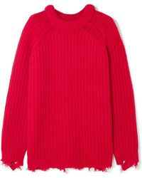 R13 - Distressed Cashmere Sweater - Lyst