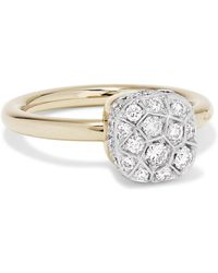 Pomellato - Nudo 18-karat Rose And White Gold Diamond Ring - Lyst