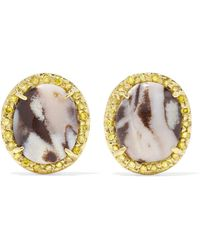 Kimberly Mcdonald - 18-karat Gold, Opal And Sapphire Earrings - Lyst