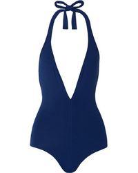 Eres Les Essentiels Cachette Halterneck Swimsuit - Blue