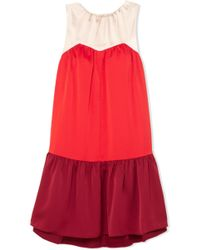 Paper London - Rubin Color-block Satin Mini Dress - Lyst