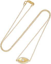 Jennifer Meyer - Evil Eye 18-karat Gold Diamond Necklace - Lyst