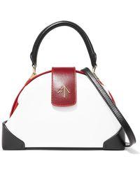 MANU Atelier - Demi Mini Suede-trimmed Leather Shoulder Bag - Lyst