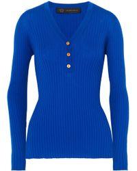 Versace - Ribbed Wool Top - Lyst
