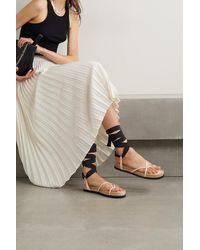 3.1 Phillip Lim Yasmine Leather And Grosgrain Espadrille Sandals - Natural