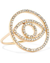 Ileana Makri - Circled Eye 18-karat Gold Diamond Ring - Lyst