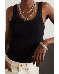 Loren Stewart - Deux Toggle Silver And Gold Vermeil Necklace - Lyst