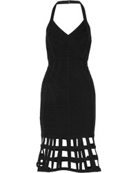 Hervé Léger | Halterneck Bandage Dress | Lyst