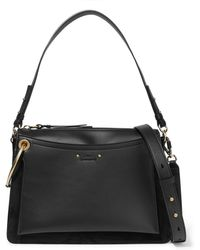 Chloé - Roy Medium Leather And Suede Shoulder Bag - Lyst