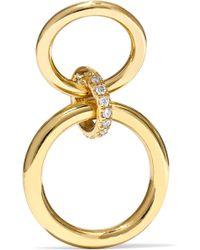 Gaelle Khouri - Logos 18-karat Gold Diamond Earring - Lyst