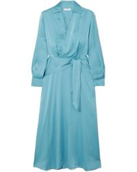 Equipment - Vivienne Silk-blend Wrap Dress - Lyst