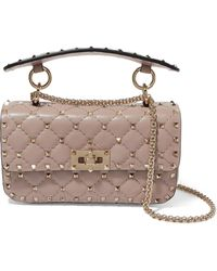 Valentino - Garavani The Rockstud Spike Small Quilted Leather Shoulder Bag - Lyst