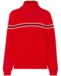 Perfect Moment - Orelle Striped Merino Wool Turtleneck Sweater - Lyst