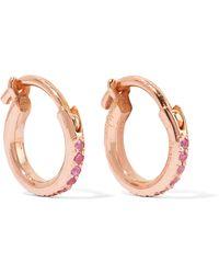 Ileana Makri - 18-karat Rose Gold Sapphire Hoop Earrings - Lyst