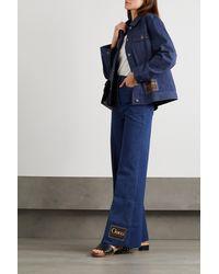 Gucci Appliquéd Denim Jacket - Blue