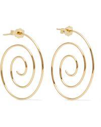 Beaufille | Spiral 10-karat Gold Earrings | Lyst