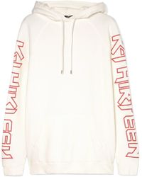 R13 - R Thirteen Printed Cotton-blend Jersey Hooded Sweatshirt - Lyst
