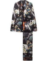 Meng - Floral-print Silk-satin Pyjama Set - Lyst