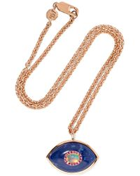 Marlo Laz - Iris 14-karat Rose Gold Multi-stone Necklace - Lyst