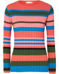 Stine Goya - Leonor Striped Ribbed-knit Jumper - Lyst