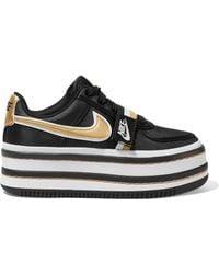 Nike - Vandal 2k Metallic Faux Leather-trimmed Faille Platform Sneakers - Lyst