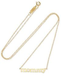 Jennifer Meyer Mommy 18-karat Gold Necklace - Metallic