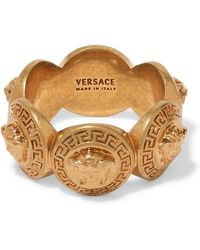 Versace - Gold-tone Ring Gold 11 - Lyst