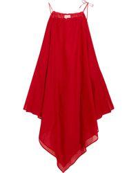 Marios Schwab - Cotton-voile Dress - Lyst