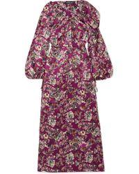 Y. Project - Printed Silk Maxi Dress - Lyst