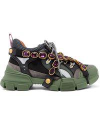 Gucci - Baskets Flashtrek avec cristaux amovibles - Lyst