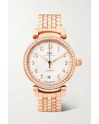 IWC Schaffhausen Montre En Or Rouge 18 Carats (750/1000) Et Diamants Da Vinci Automatic 36 - Multicolore