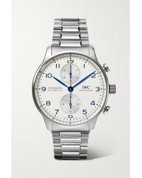 IWC Schaffhausen Portugieser Automatic Chronograph 41mm Stainless Steel Watch - Metallic