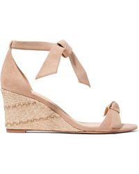 Alexandre Birman - Clarita Bow-embellished Suede Espadrille Wedge Sandals - Lyst