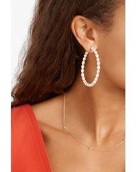 Loren Stewart + Net Sustain Nina 14-karat Gold Pearl Hoop Earrings - White