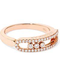 Messika - Baby Move 18-karat Rose Gold Diamond Ring - Lyst