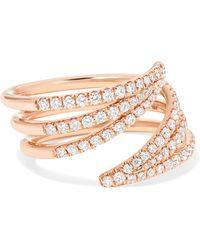 Melissa Kaye - Cristina 18-karat Rose Gold Diamond Ring Rose Gold 7 - Lyst