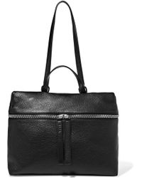 Kara - Satchel Textured-leather Shoulder Bag - Lyst
