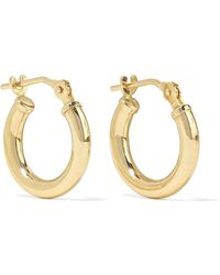 Loren Stewart - Baby Chubbie Huggies Gold Hoop Earrings - Lyst