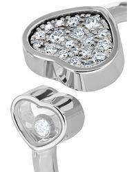 Chopard Happy Hearts 18-karat White Gold Diamond Ring - Metallic