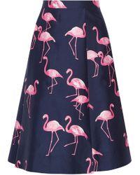 Draper James - Printed Silk And Cotton-blend Midi Skirt - Lyst