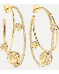 Ofira Solar 18-karat Gold Diamond Earrings - Metallic