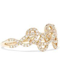 Anissa Kermiche - Tatouage 9-karat Gold Diamond Ring - Lyst