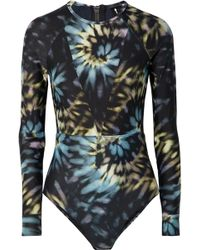 The Upside - Mesh-paneled Tie-dyed Swimsuit - Lyst